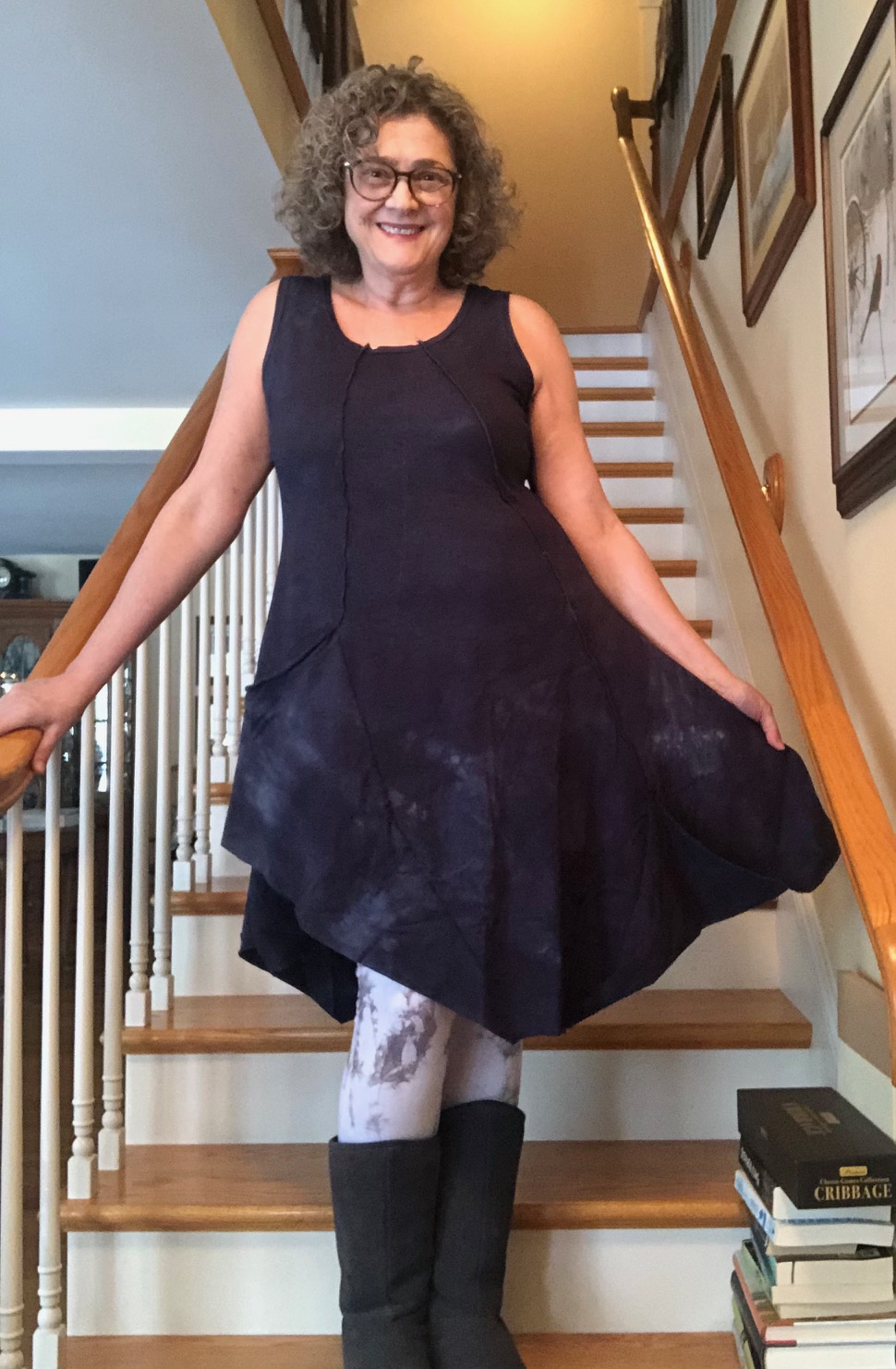 Sheila wearing the Madelyn Tunic Dress