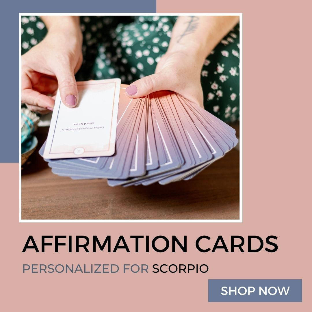Affirmation Cards Personalized to Scorpio