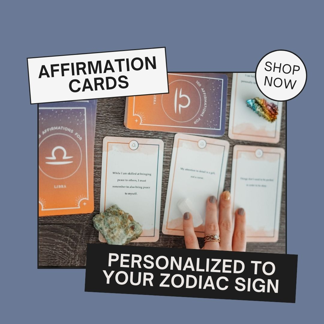 shop affirmation cards for your zodiac sign