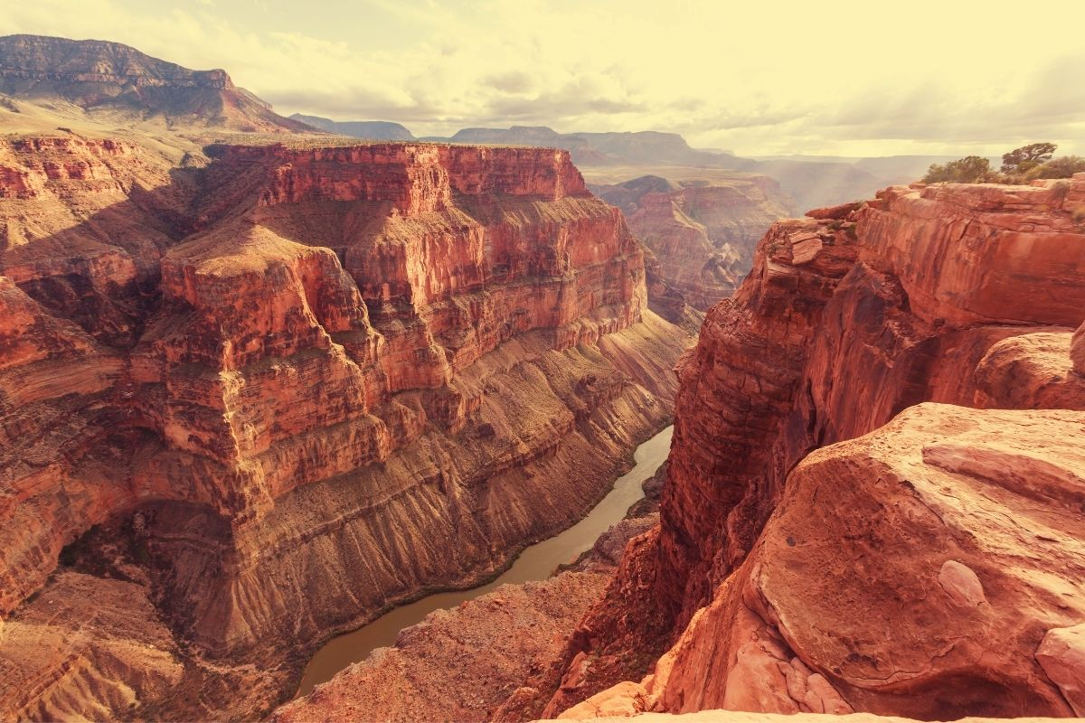 The Colorado River in the Grand Canyon, a mystery among our list of fun facts about national parks