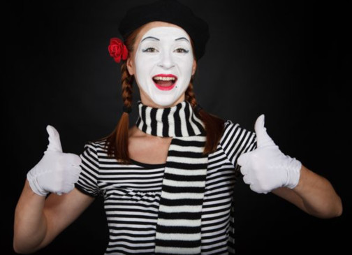 Adult in Mime Costume