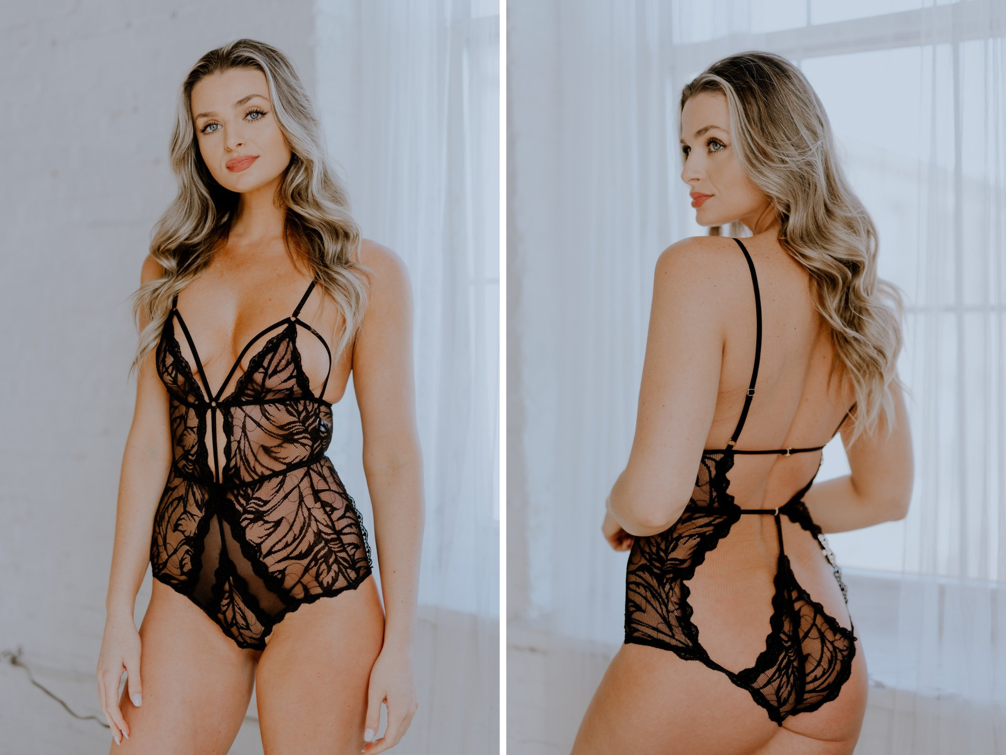 Ultra Sexy Sheer Strappy Cut Out Lingerie