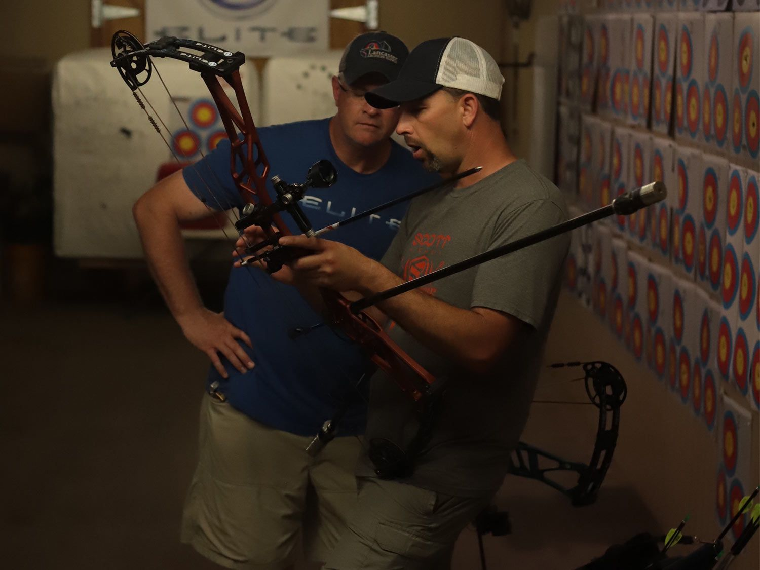 Visit your local bow shop when business is slow so you can shoot a variety of bows at your draw length.