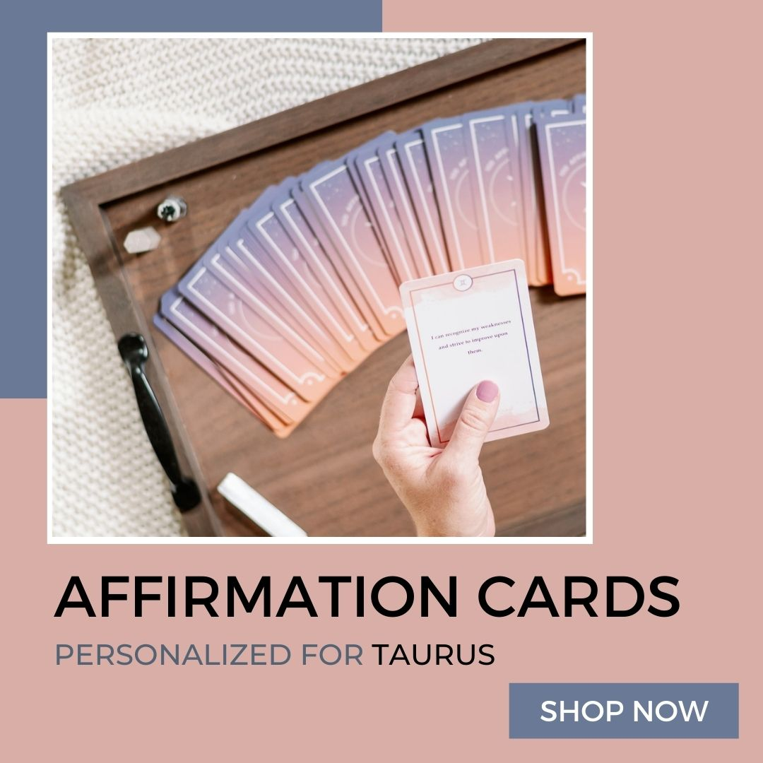 affirmation cards for taurus