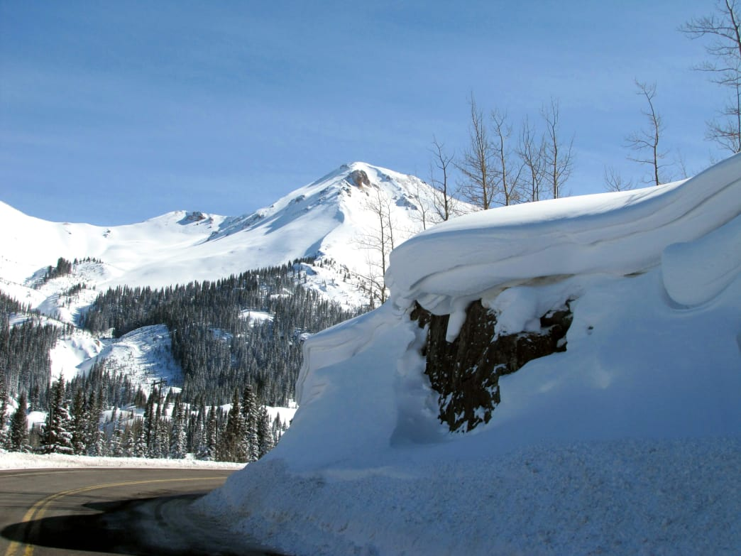Travel on the Million Dollar Highway in the winter can be tricky, as it is frequently closed due to bad weather.