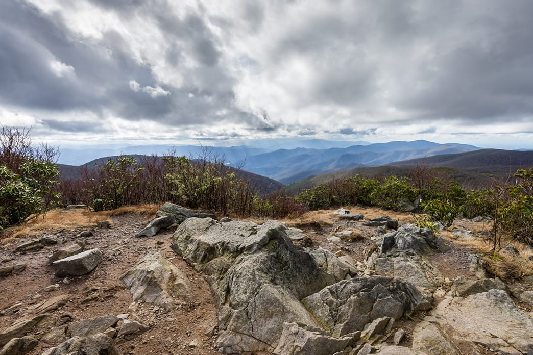 Overlook on Rocky Top in Great Smoky Mountains National Park