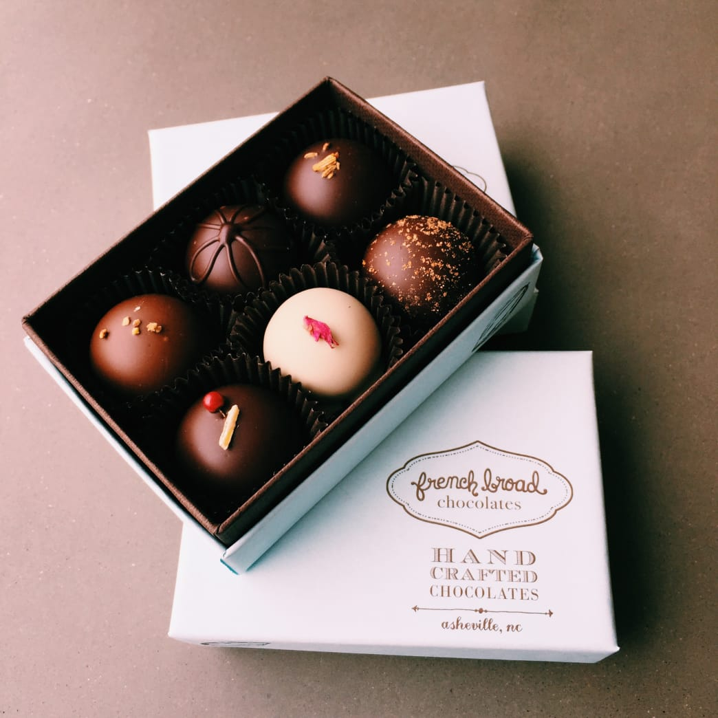 Luscious truffles from the French Broad Chocolate Company.