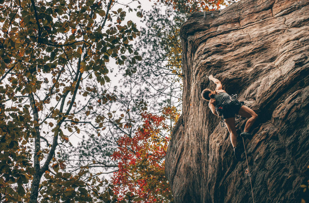 The weekend-long Rocktoberfest welcomes newbies and seasoned climbers alike.