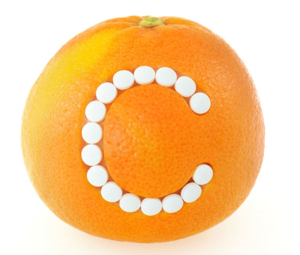 Orange with a letter C on the front. - . Better Nutrition