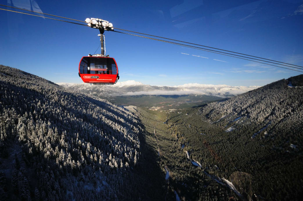 Get from Blackcomb to Whistler Mountain in a mere 11 minutes on the Peak 2 Peak Gondola.