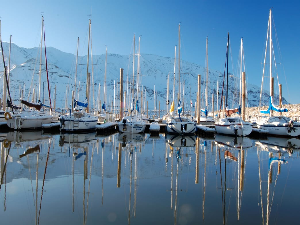 Explore the Great Salt Lake starting from Great Salt Lake State Marina.