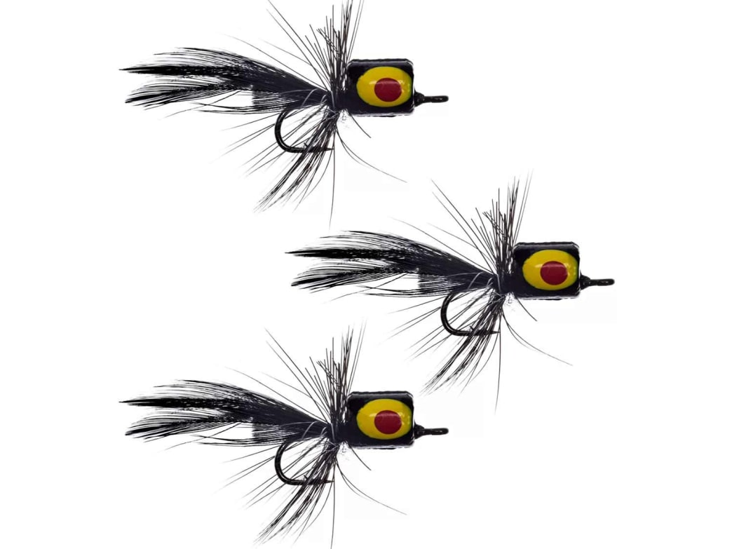 Keep a few small popper flies in your fly box for panfish.