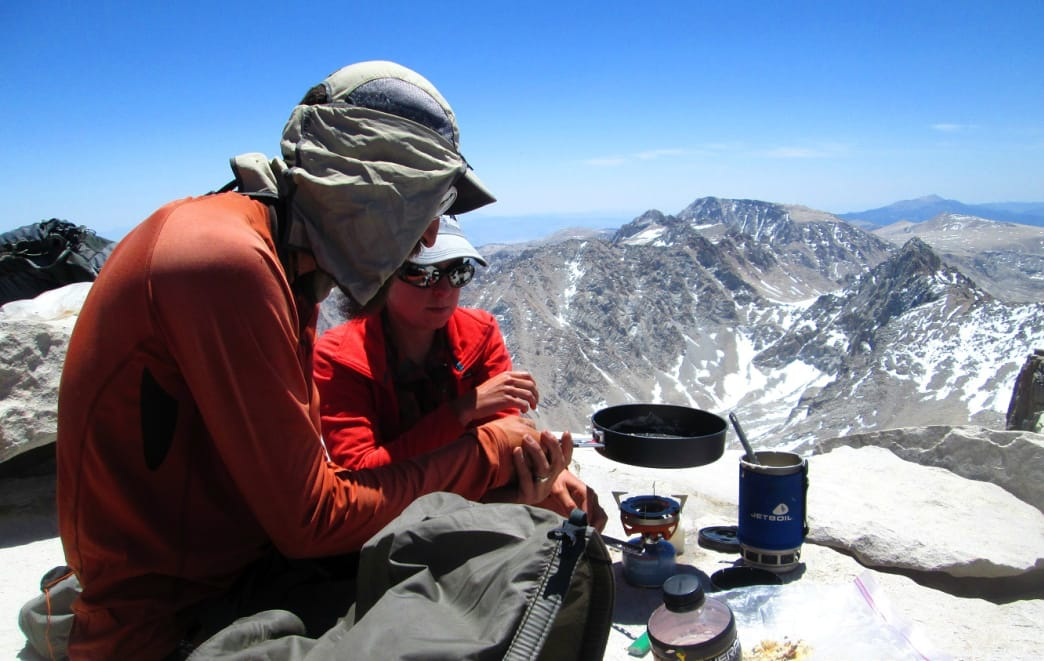 Backcountry cooking with a view.
