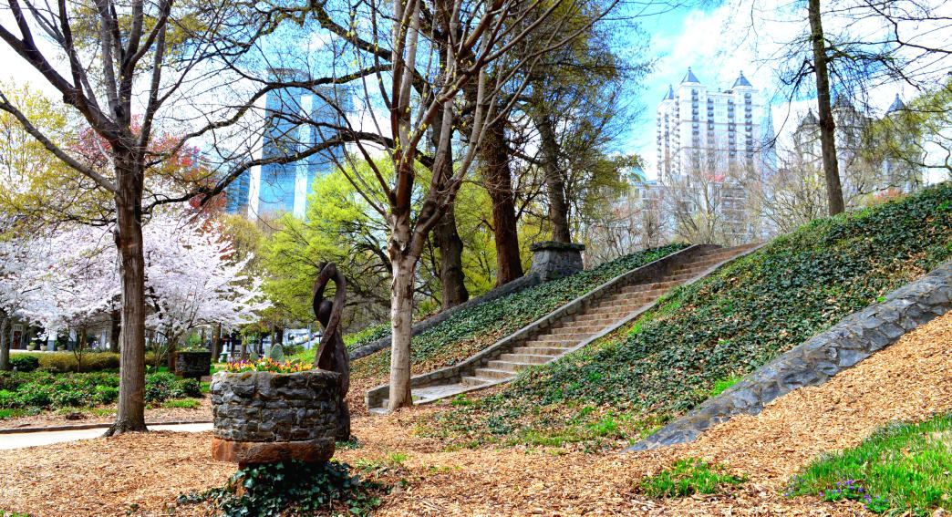 Scenic Piedmont Park features more than 200 acres to explore.