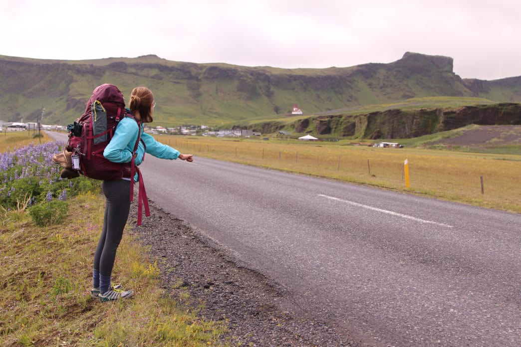 Hitchhiking along the Ring Road in Iceland.      Matt Guenther