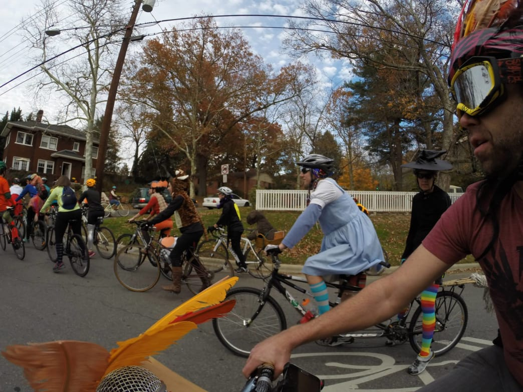 A community ride with Asheville on Bikes, Asheville's premier cycling advocacy group.
