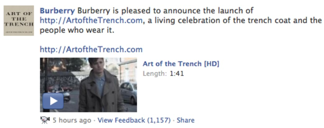 facebook burberry user generated campaign example