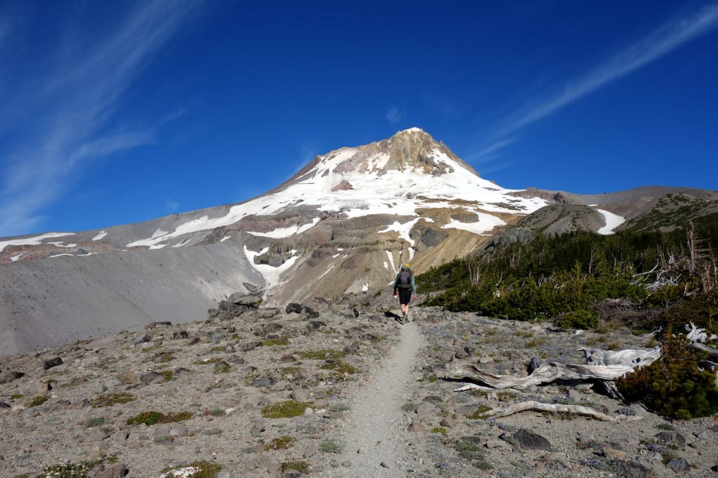 Views of Mt. Hood are a ever-constant and always-changing along the Timberline Trail.     Laura Lancaster