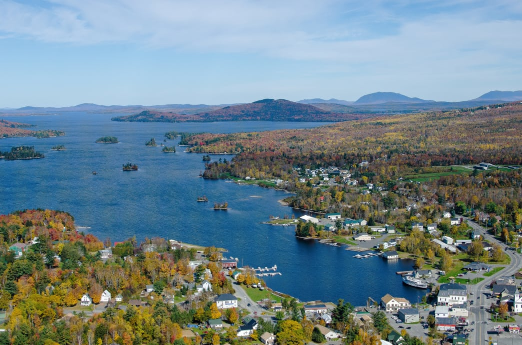 Downtown Greenville and Moosehead Lake