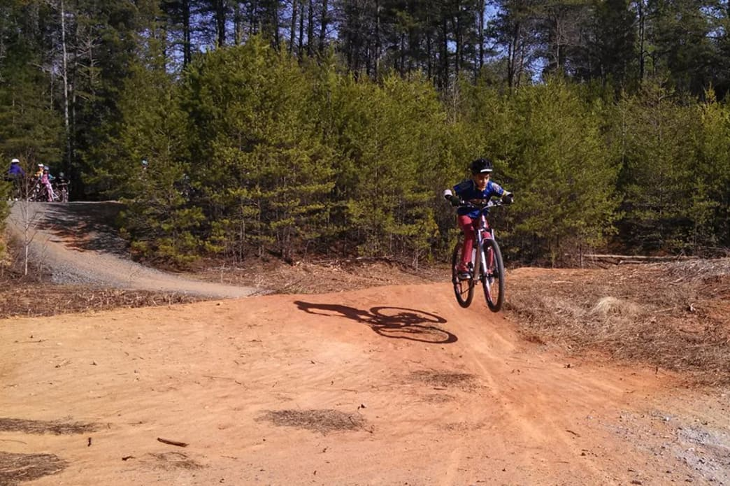 The speedy, and sometimes dusty, trails at Col. Francis Beatty Park.