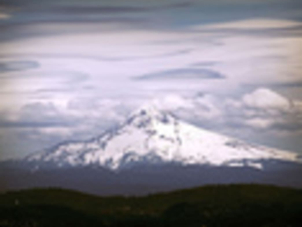 The view of Mount Hood from the upper platform of the Portland Aerial Tram (part of the 4T Trail) is among the best in Portland.