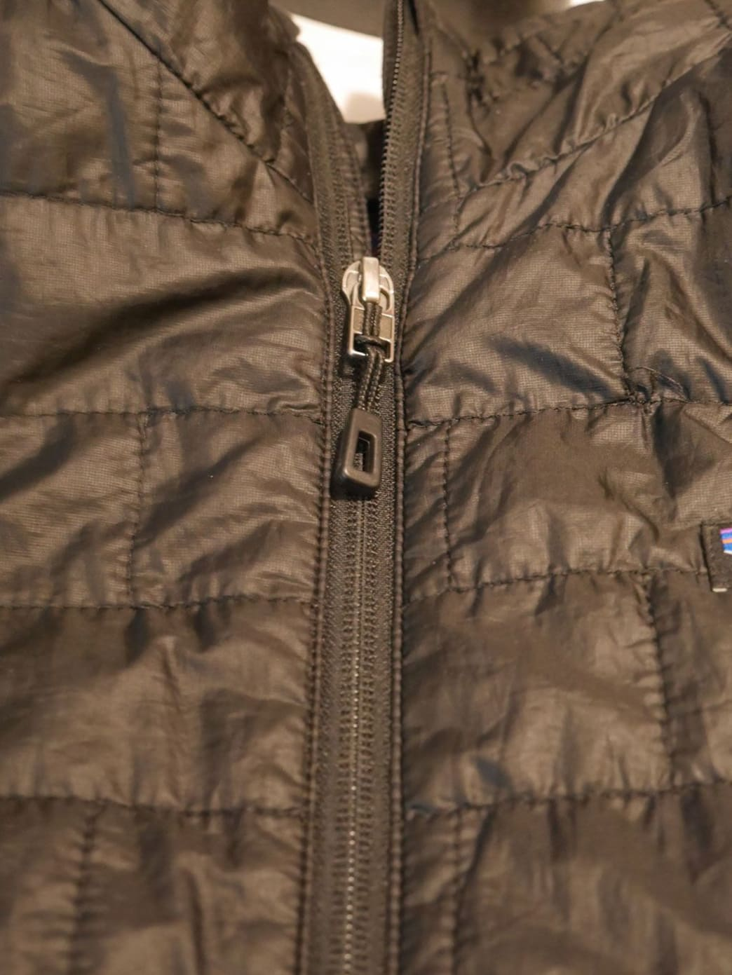 Lining up the placket on an exposed zipper takes some precision.