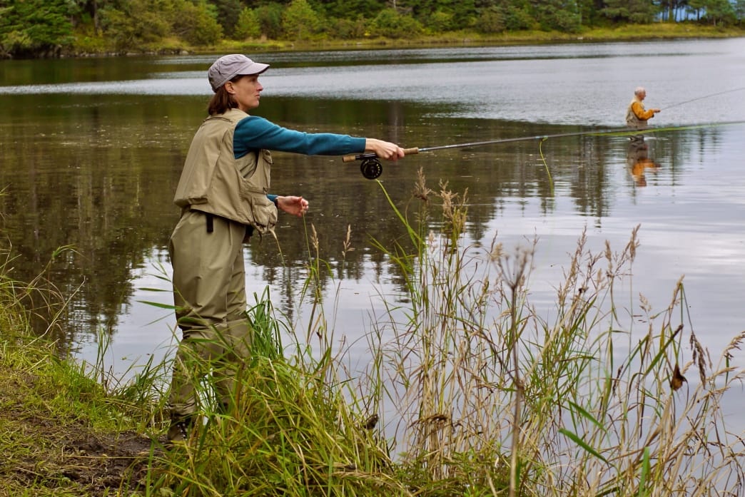 Practice makes perfect when learning the techniques of fly fishing.