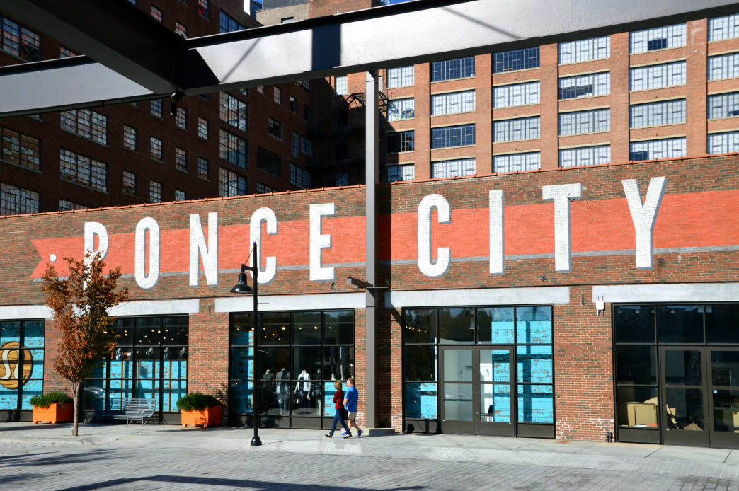 Ponce City Market's centerpiece food hall offers a wide variety of choices, from Indian food to classic American eats.