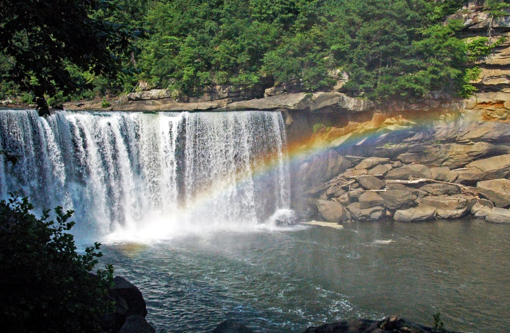 Enjoy the beauty of Cumberland Falls while paddling on the Cumberland River.