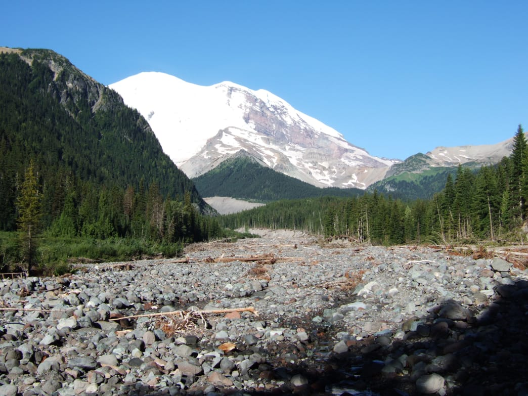 A view of Mt. Rainier from the White River Campground.