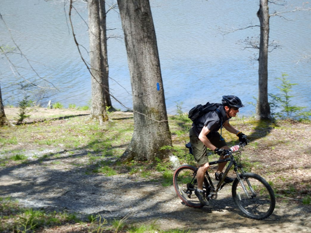 Hungry Mother State Park offers trails for all levels of mountain bikers and some nice camping options.