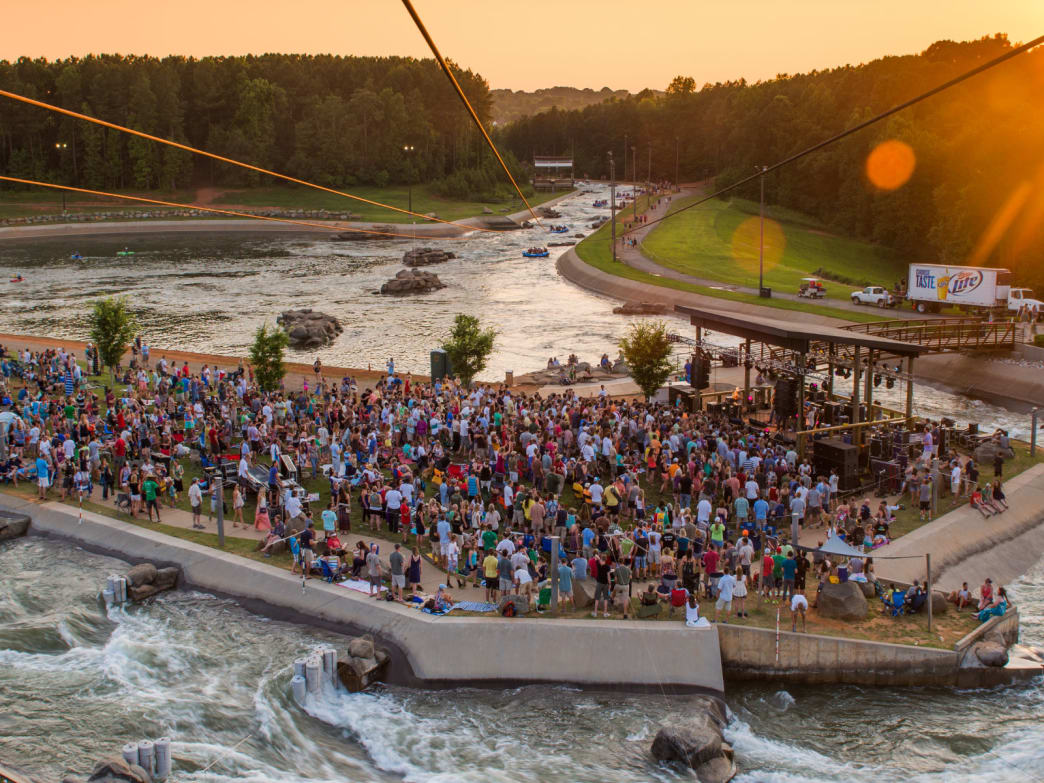 The U.S. National Whitewater Center is filled with events year round and is one of the top spots in the southeast for whitewater paddling and climbing.