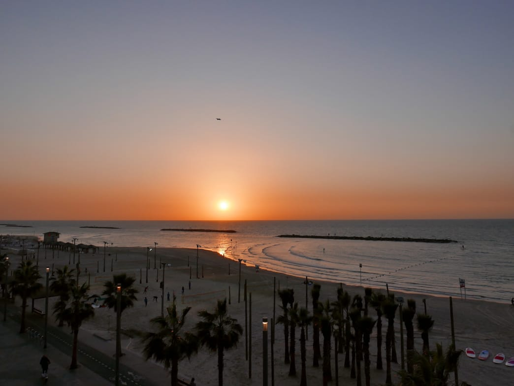 Sunsets in Tel Aviv are hard to beat.