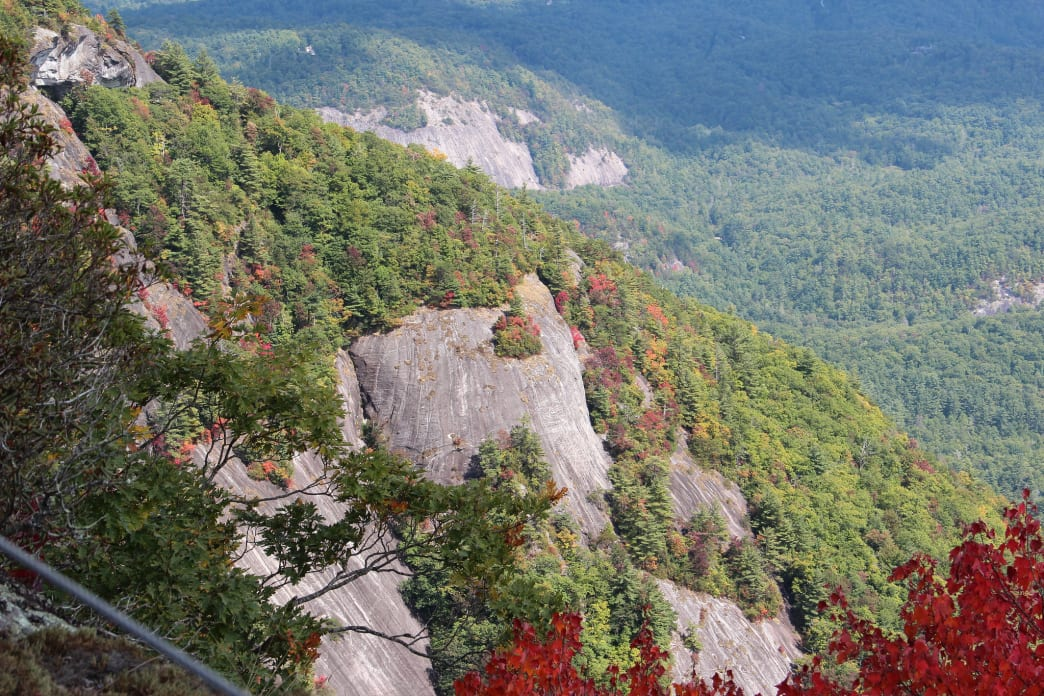 Whiteside Mountain is one of the East Coast's most difficult climbs.