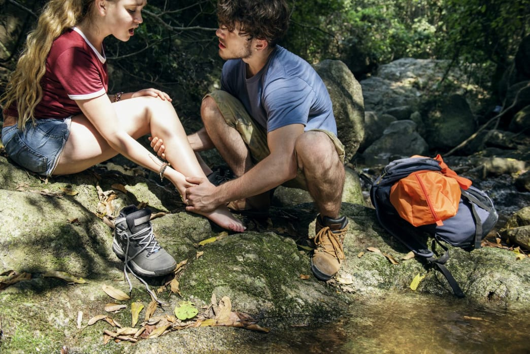 Always remove a person's boots to assess a lower leg injury.