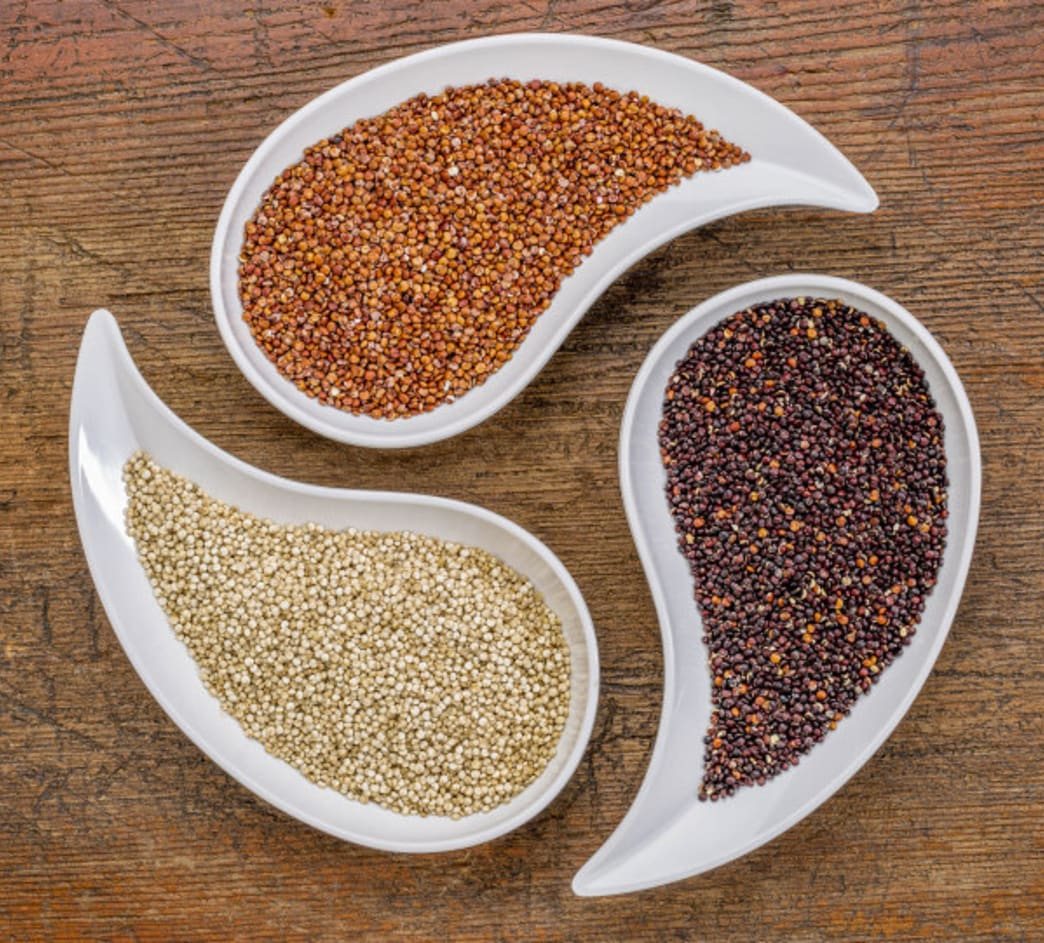 .Better Nutrition - quinoa in two bowls