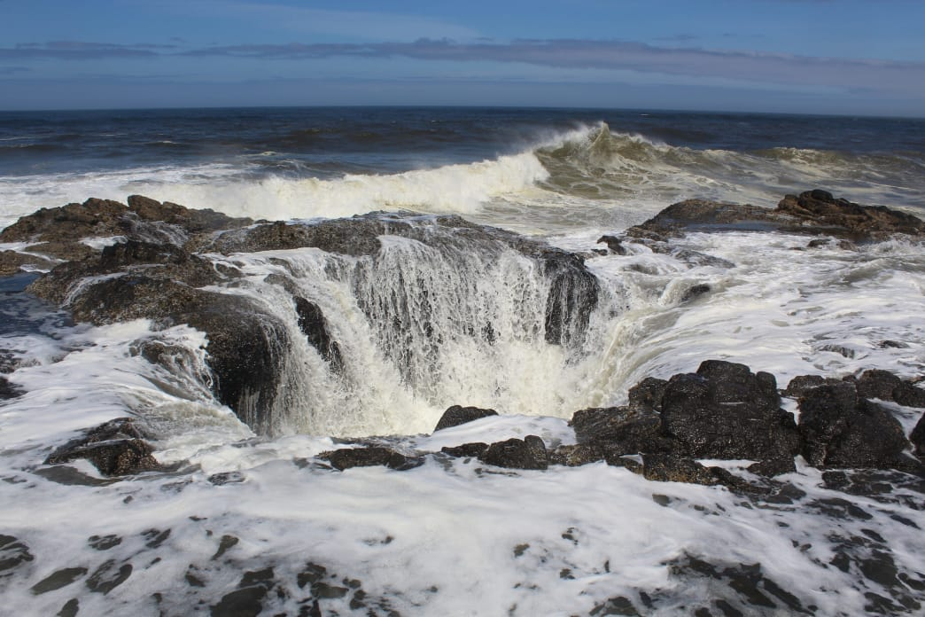 Thor's Well, part of Devil's Churn at Cape Perpetua, Oregon.