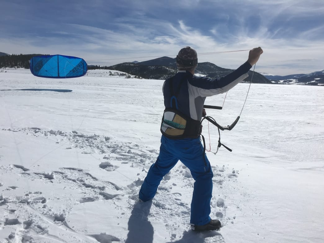 snowkiting launch