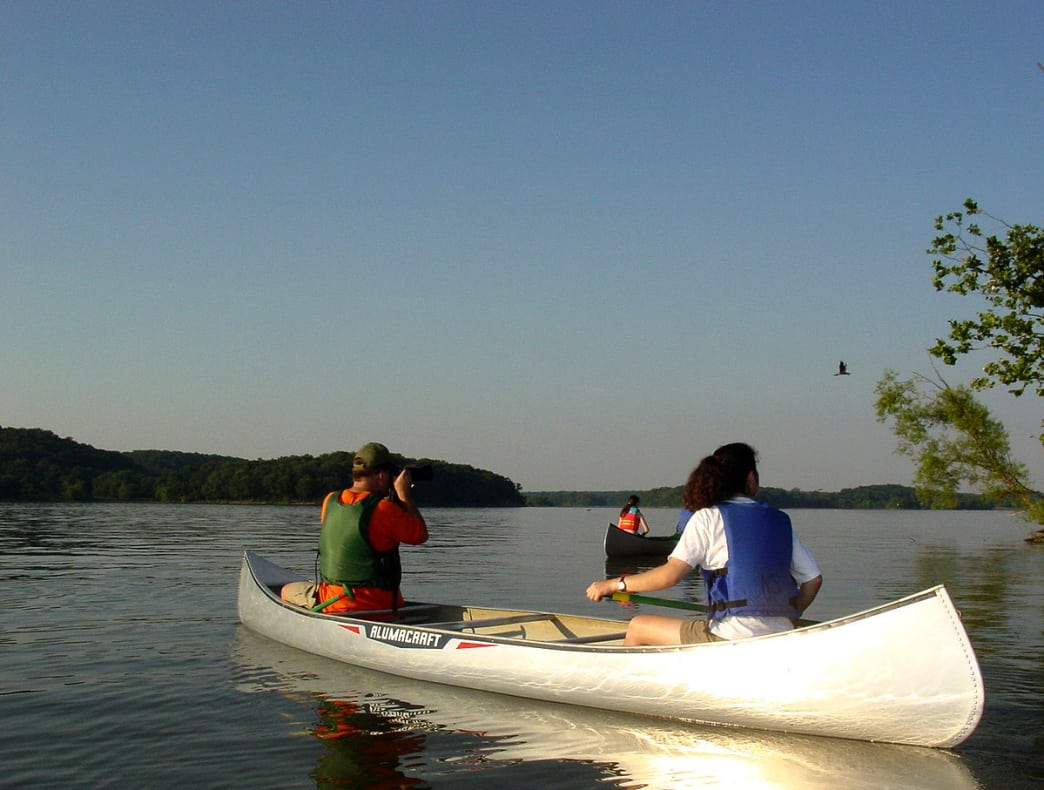 Getting on the water is a perfect way to explore the lakes.
