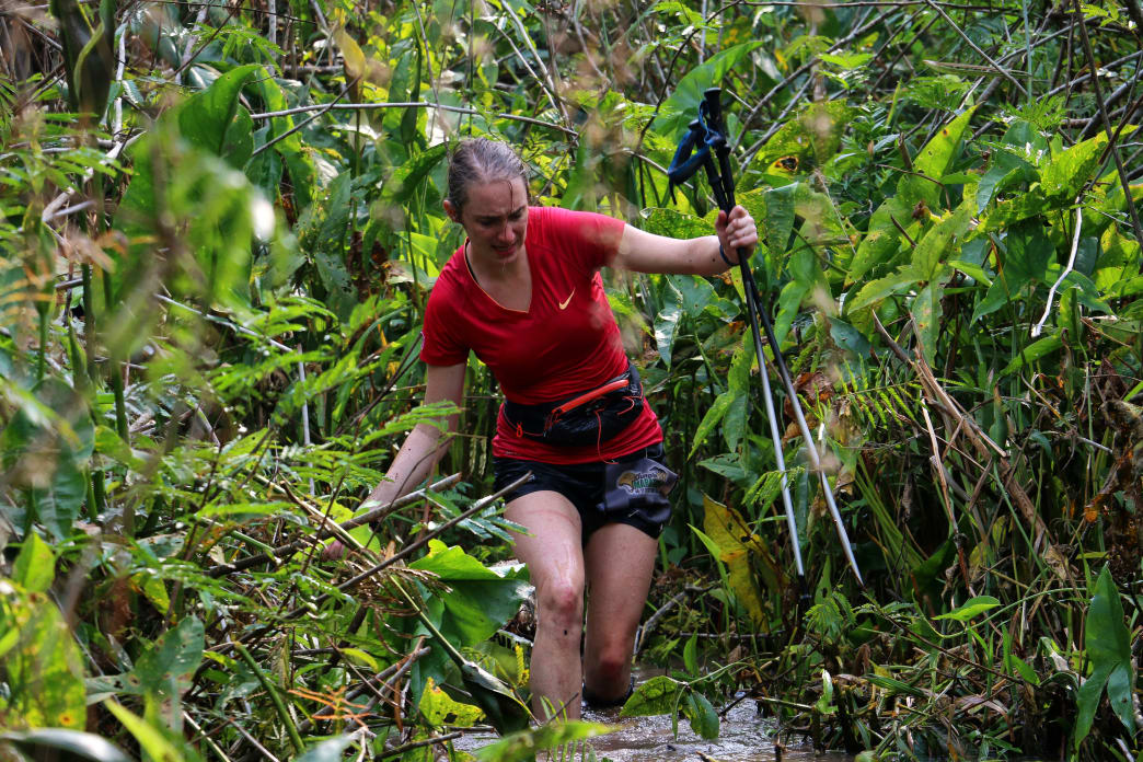Wet feet are just part of life during the Jungle Ultra. It's caring for them that's the tough part.      Fabio Andrade