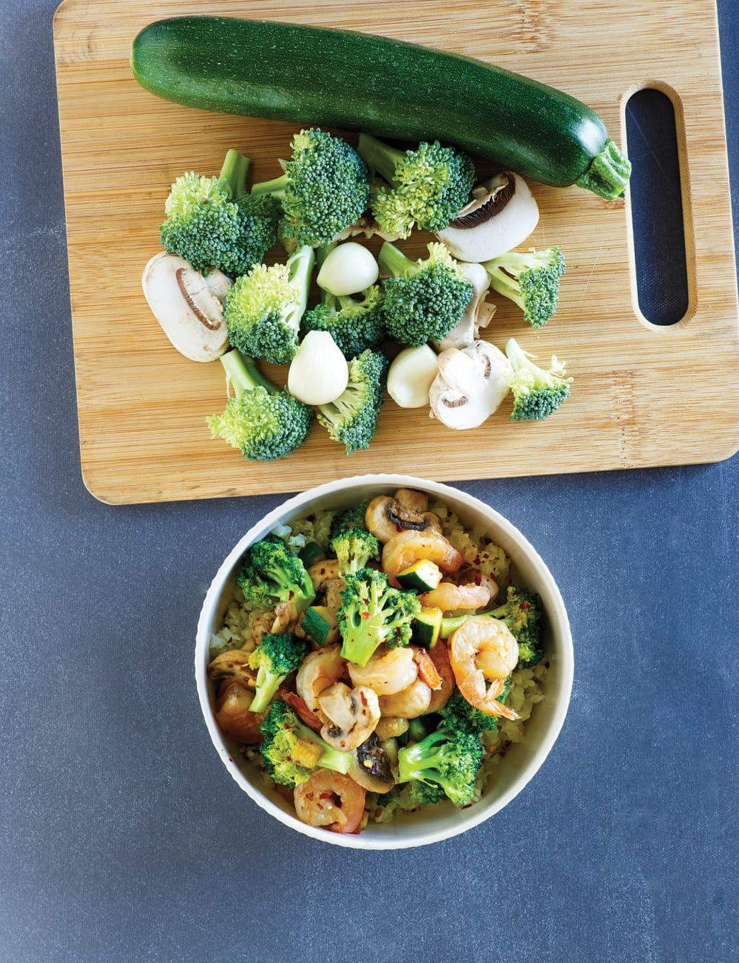 Shrimp Stir Fry.    Photo by: Working Mother