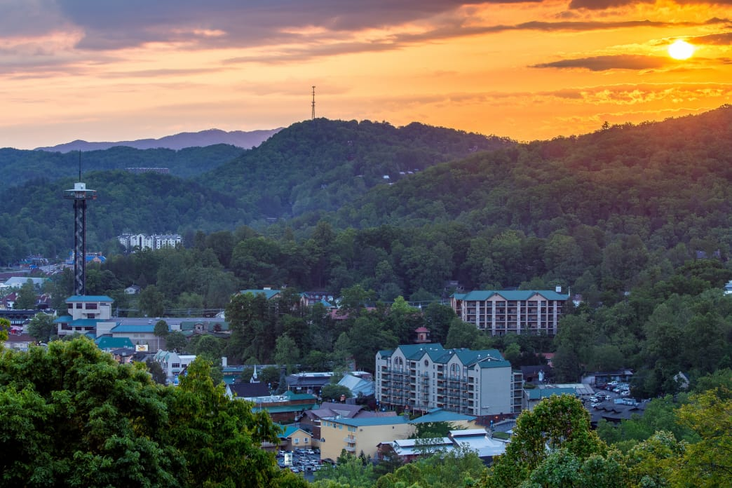 Downtown Gatlinburg, Tennessee.