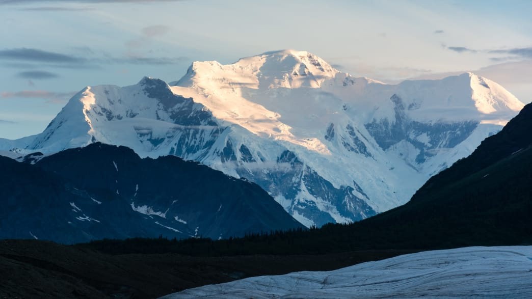 Mount Blackburn is the highest peak in the Wrangell Mountains of Alaska, and the fifth highest peak in America.