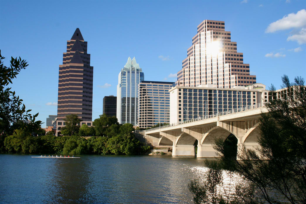 Take a walk or run around Lady Bird Lake, which includes going through Zilker Park.