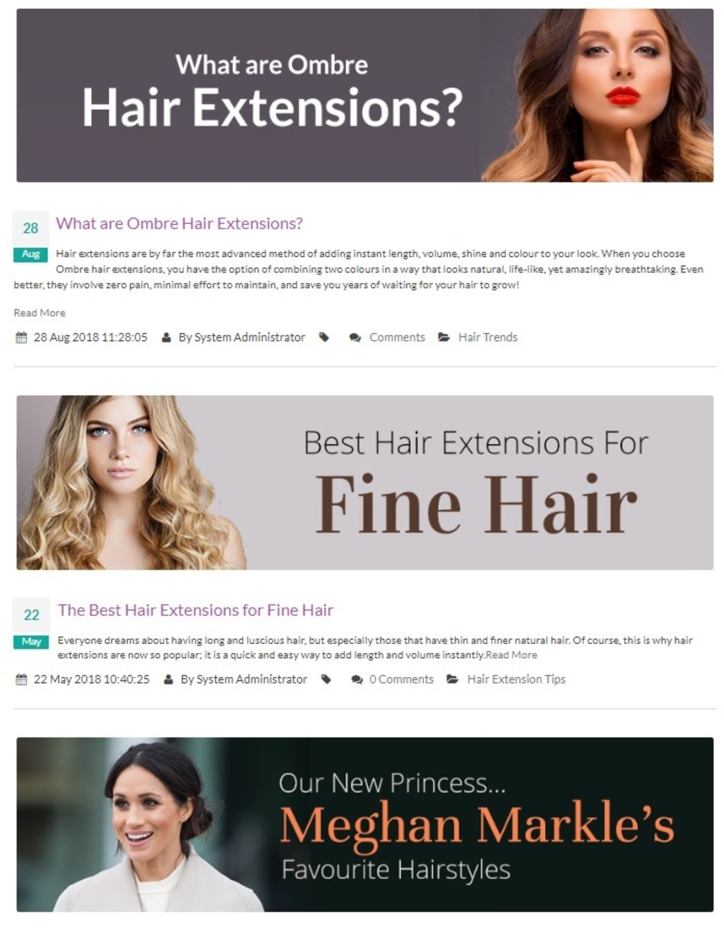 hair products online store blog
