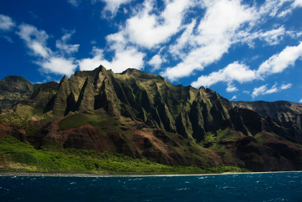 The sheer, razorback spurs of Hawaii's Na Pali Coast.