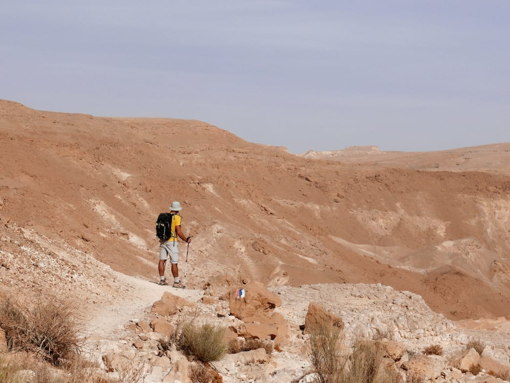 The Israel National Trail spans the length of the country, from green hills in the north to desert in the south.