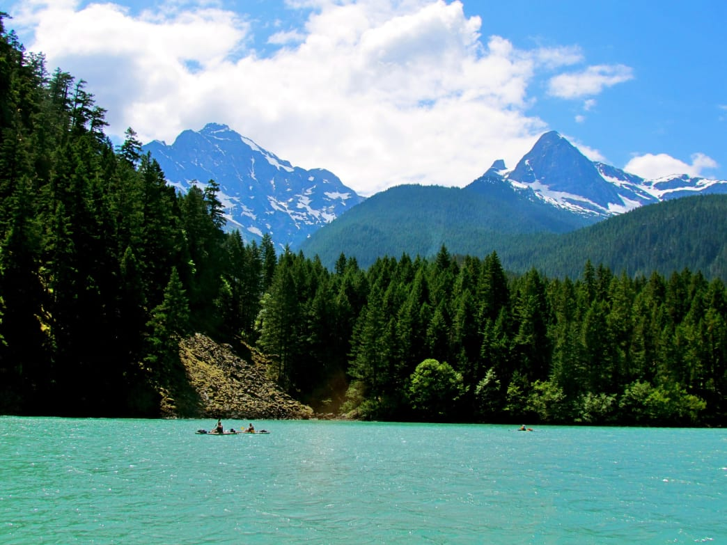 The glacial waters of Diablo Lake are a sight to see.