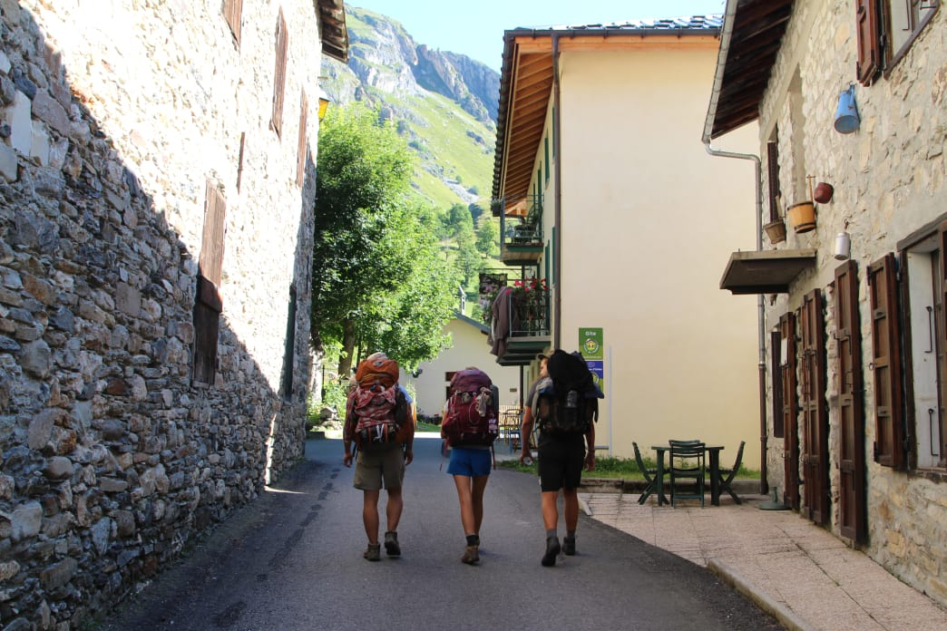 Taking to the streets of a French village along the Tour de Mont Blanc. Matt Guenther