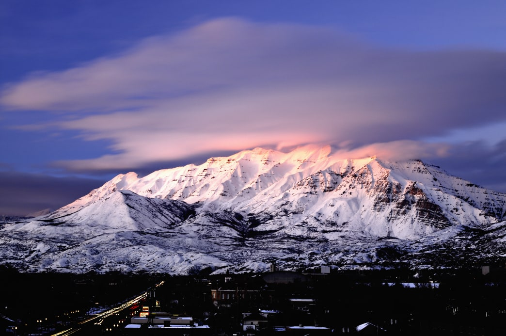 Mount Timpanogos offers a challenging hike to 11,752 feet.